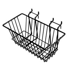 Narrow wire basket black finish