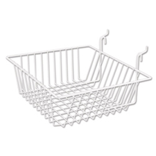 Small wire basket white finish