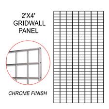 Chrome gridwall panel (2 X 4)