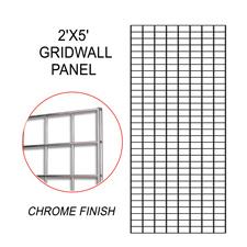 Chrome gridwall panel (2 X 5)
