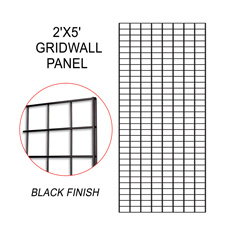 Black gridwall panel (2 X 5)