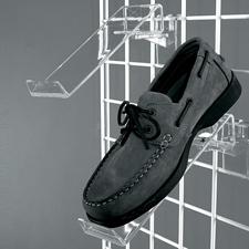 Acrylic swivel shoe display