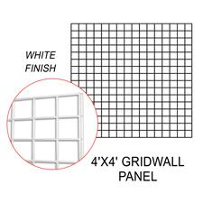 White gridwall panel (4 X 4)