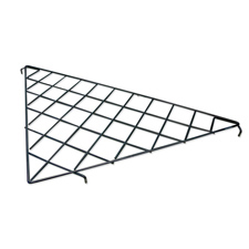 Triangular wire shelf black finish