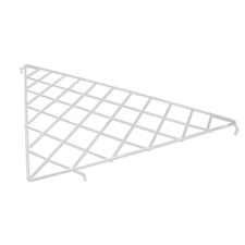 Triangular wire shelf white finish