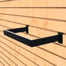 U Shape hangrail black finish