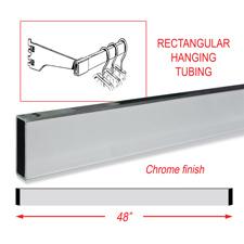 "48"" Rectangular tubing chrome finish"