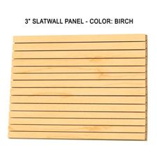 "3"" Birch melamine slatwall panels"