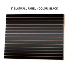 """3"""" Black melamine slatwall panels"""