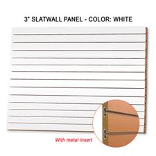 """3"""" white melamine slatwall panel with metal insert"""