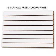 """6"""" white melamine slatwall panel"""