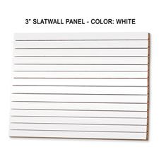 """3"""" white melamine slatwall panel"""