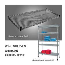 """Black wire shelf (18"""" X 48"""")"""