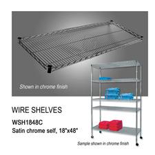 """Chrome wire shelf (18"""" X 48"""")"""