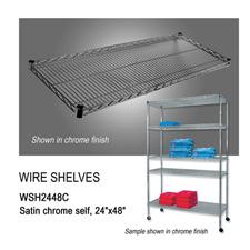 """Chrome wire shelf (24"""" X 48"""")"""