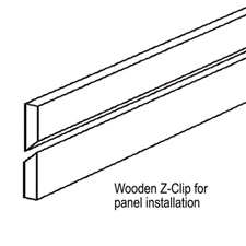 Wooden z-clip for puck panel installation